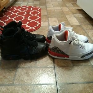 Retro jordans 9s and 3s